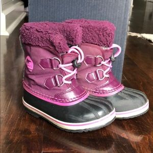 SOREL Girls Yoot Pac Snow Boots Purple Dahlia 12